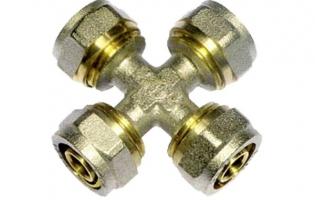 Тройники, кресты, заглушки обжимные для металлопластиковых труб