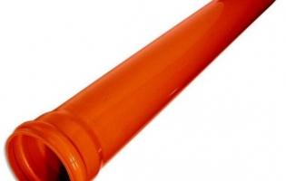Канализационные трубы наружные, патрубки, муфты ПВХ
