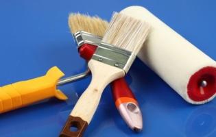 Валики, кисти, ванночки для краски