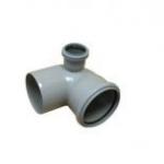 Отвод канализационный ПП 90гр 110-50 левый