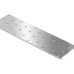 Пластина соединительная дырчатая 80х40х2,0 мм RUS
