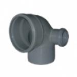 Отвод канализационный ПП 90гр 110-50 правый