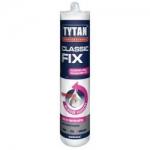 Жидкие гвозди TYTAN Classic Fix каучуковый прозрачный клей 310ml (12 шт/кор)