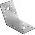 Уголок крепежный металлический 135 градусов 105х105х90 мм RUS